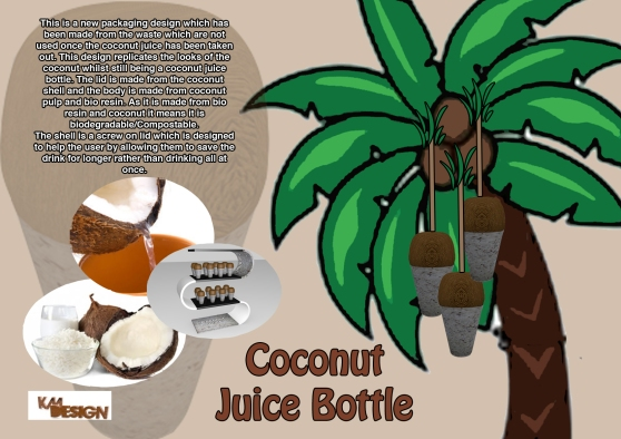 Coconut juice bottle concept